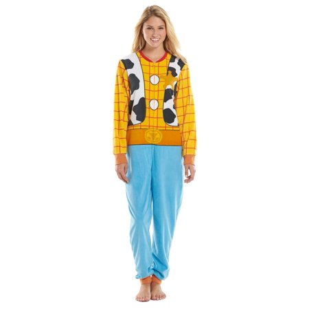 Disney Toy Story Womens Woody Pajama Blanket Sleeper Union Suit - Toy Story Alien Onesie