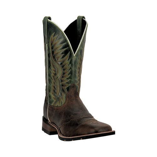 "Laredo Western Boots Mens 11"" Square Toe Jhase Brandy Waxy Green 7887 by Laredo"