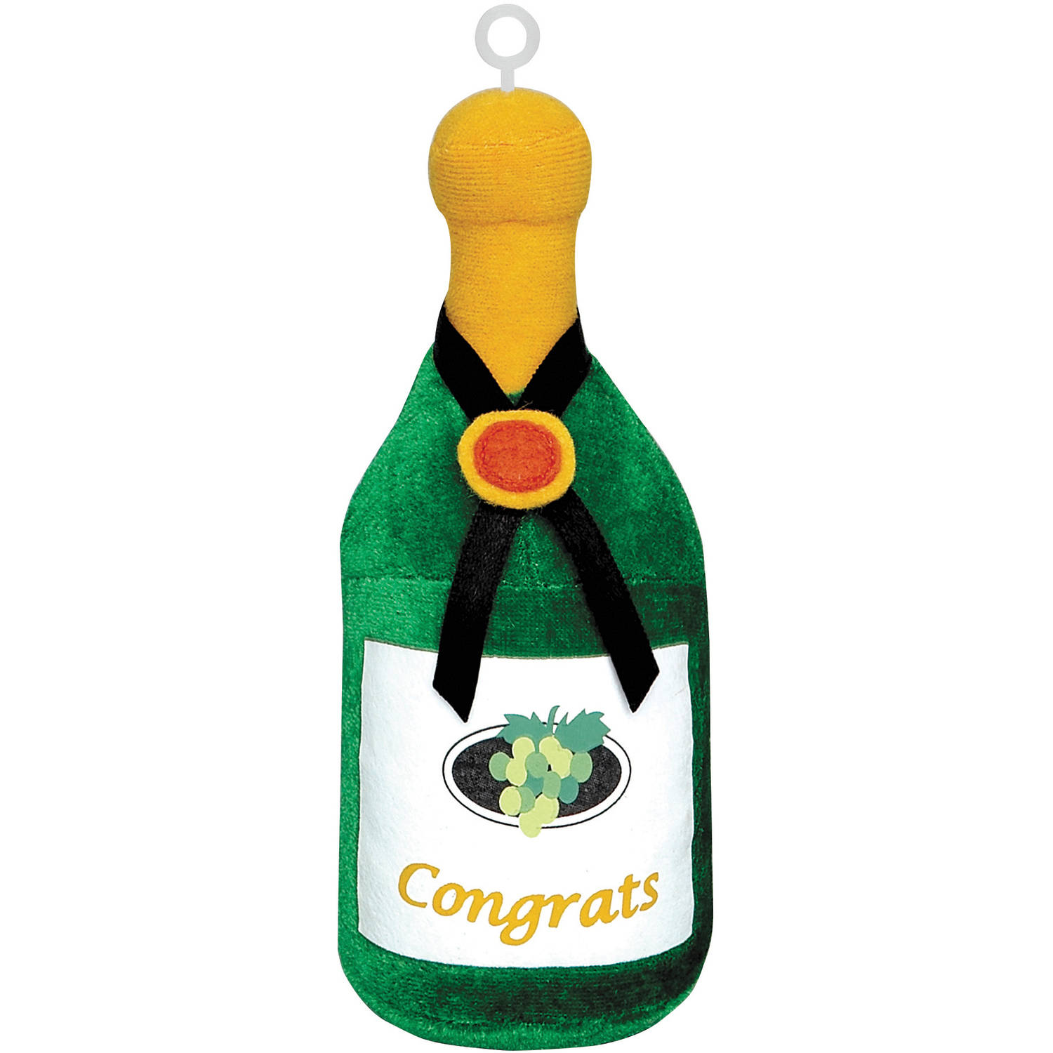 Plush Champagne Bottle Congrats Balloon Weight