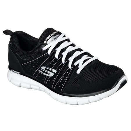 skechers 11963BKW Women's SYNERGY - LOOK BOOK Walking (Best Looking Walking Shoes For Women)