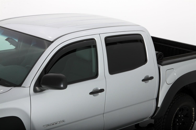 AVS 05-15 Toyota Tacoma Double Cab Ventvisor Low Profile Deflectors 4pc Smoke
