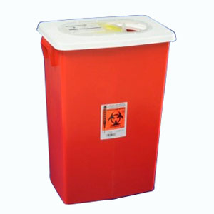 SharpSafety Large Volume Containers Sliding Lid 18 Gallon - 5 Case