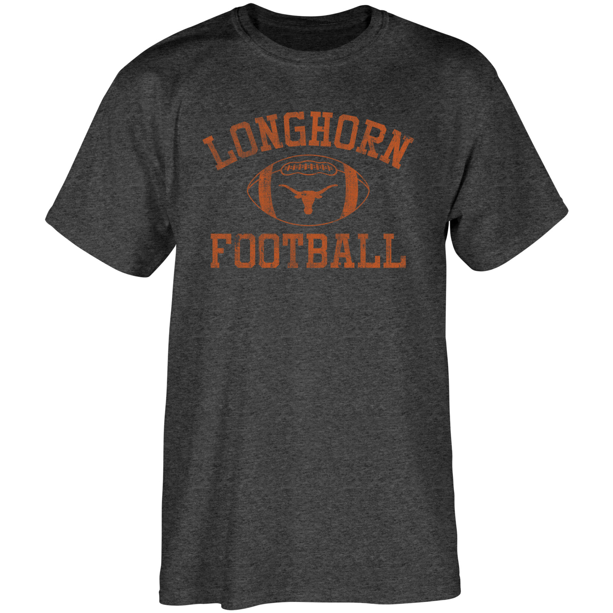 Men's Heathered Black Texas Longhorns Old Authentic Distressed T-Shirt