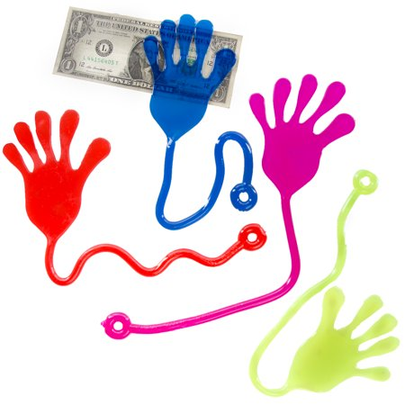 Ja-Ru (Set of 4) Jumbo Sticky Hands For Kids Birthday Party Favor Novelty Gag Gift Small Toys for Prizes - Jumbo Party