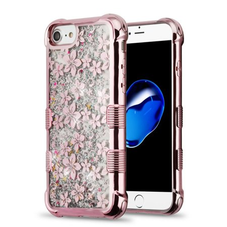 iphone 8 case rose gold flowers