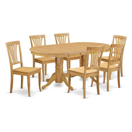 East West Furniture Vancouver 7 Piece Lath Back Dining