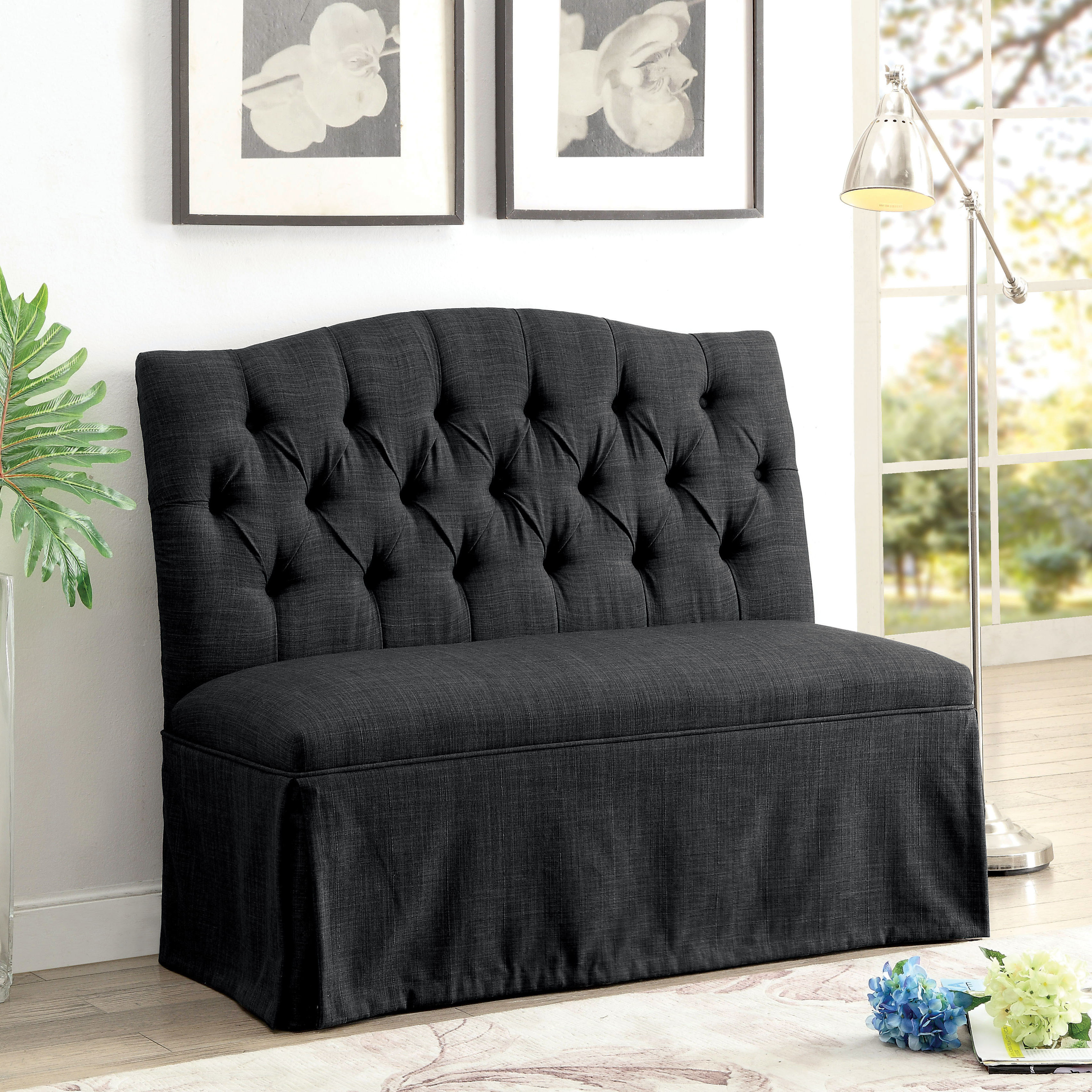 Furniture of America Jahaven III Contemporary Loveseat Bench by FOA