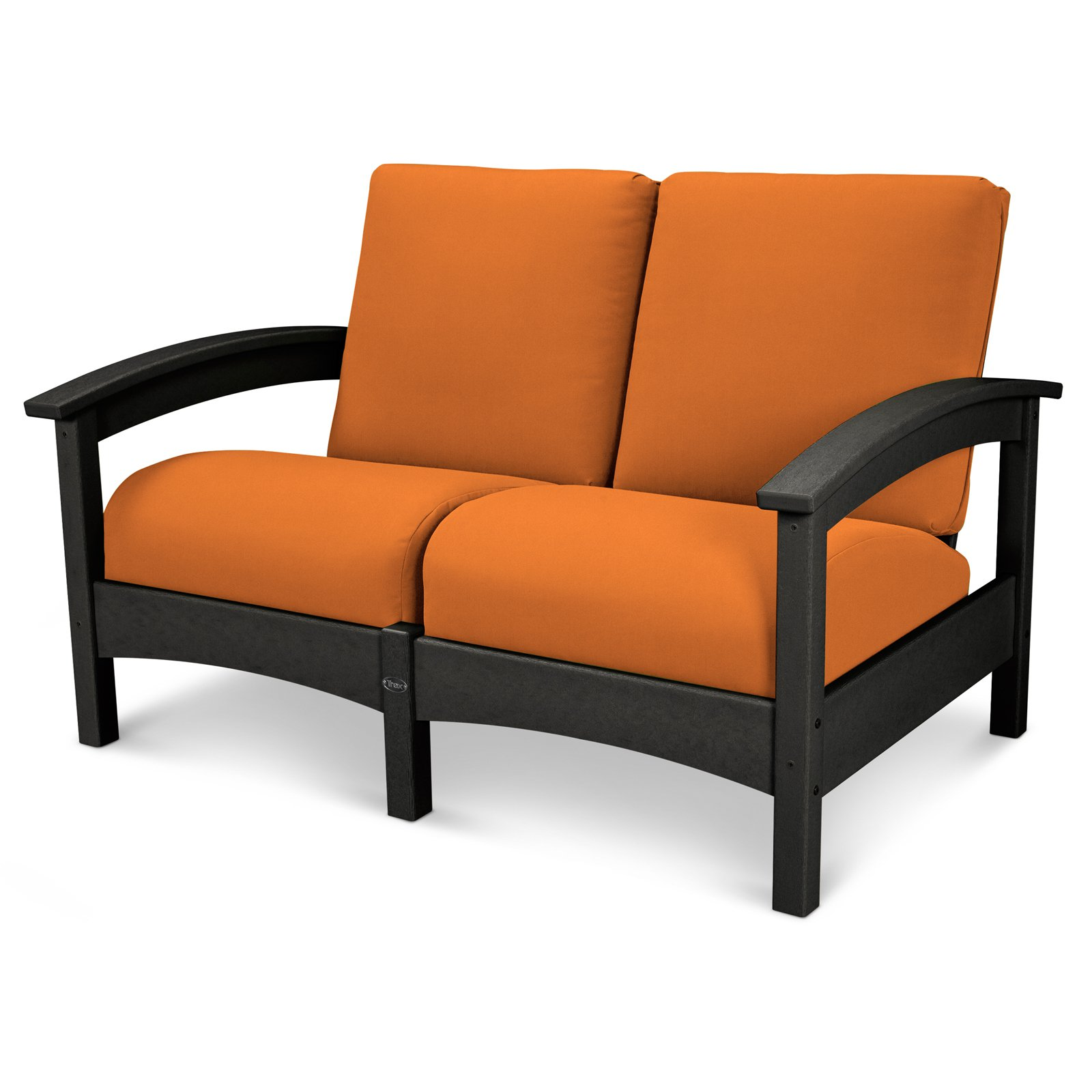 Trex Outdoor Furniture Recycled Plastic Rockport Club Settee