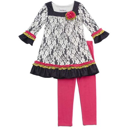Rare Editions Girls Tunic Dress and Leggings  FINAL SALE 12-one left