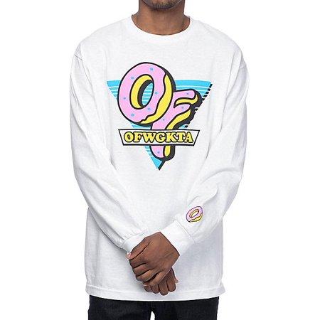 Odd Future OF Triangle White Long Sleeve T-Shirt ()
