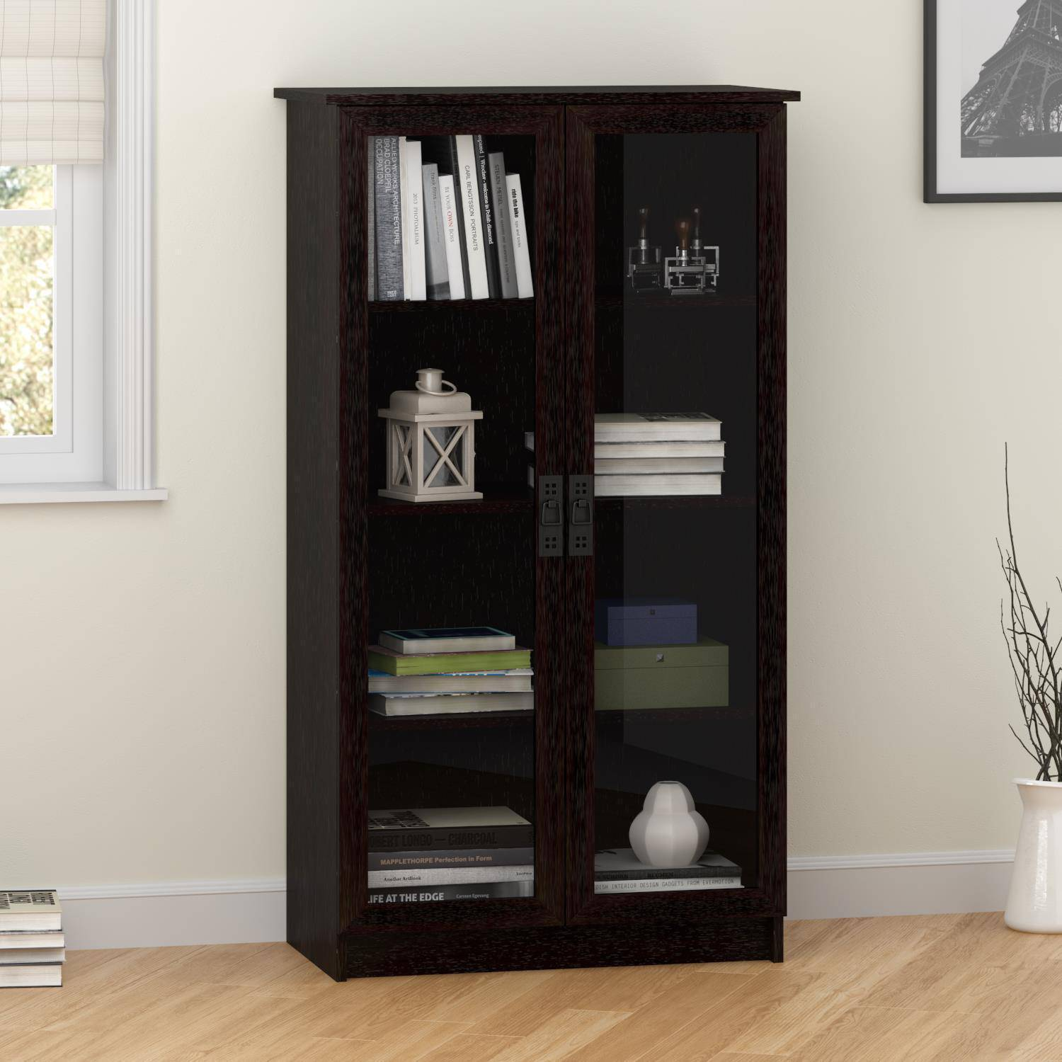 Heirloom Storage Cabinet with 4 Shelves, Multiple Finishes ...