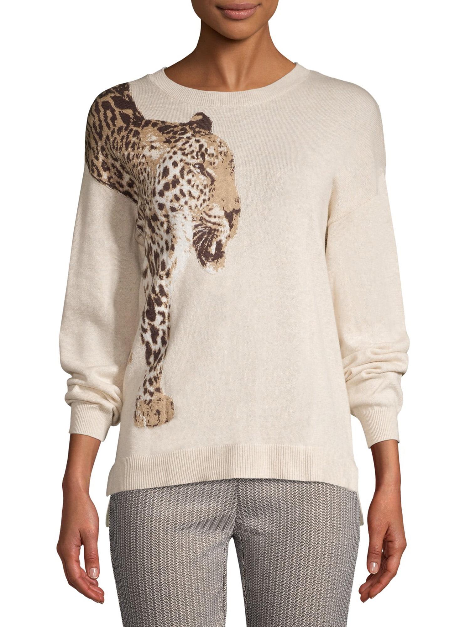 Time and Tru Women's Leopard Sweater