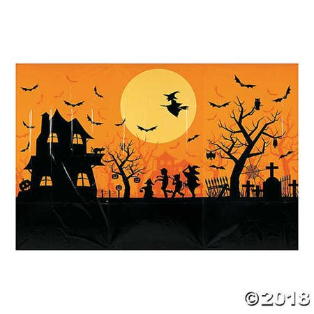 Classic Halloween Night Party Decoration Backdrop Mural Banner