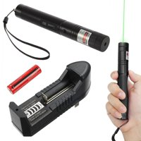 Green Laser Pointer Pen 532nm 50Miles Visible Beam+Star Pattern Battery Charger