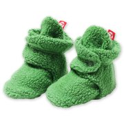 Zutano Booties Newborn Unisex Fleece Baby Booties For Baby Boys or Baby Girls Winter Slipper Socks  - Apple Green- 18 Months - Zutano Cozie Booties