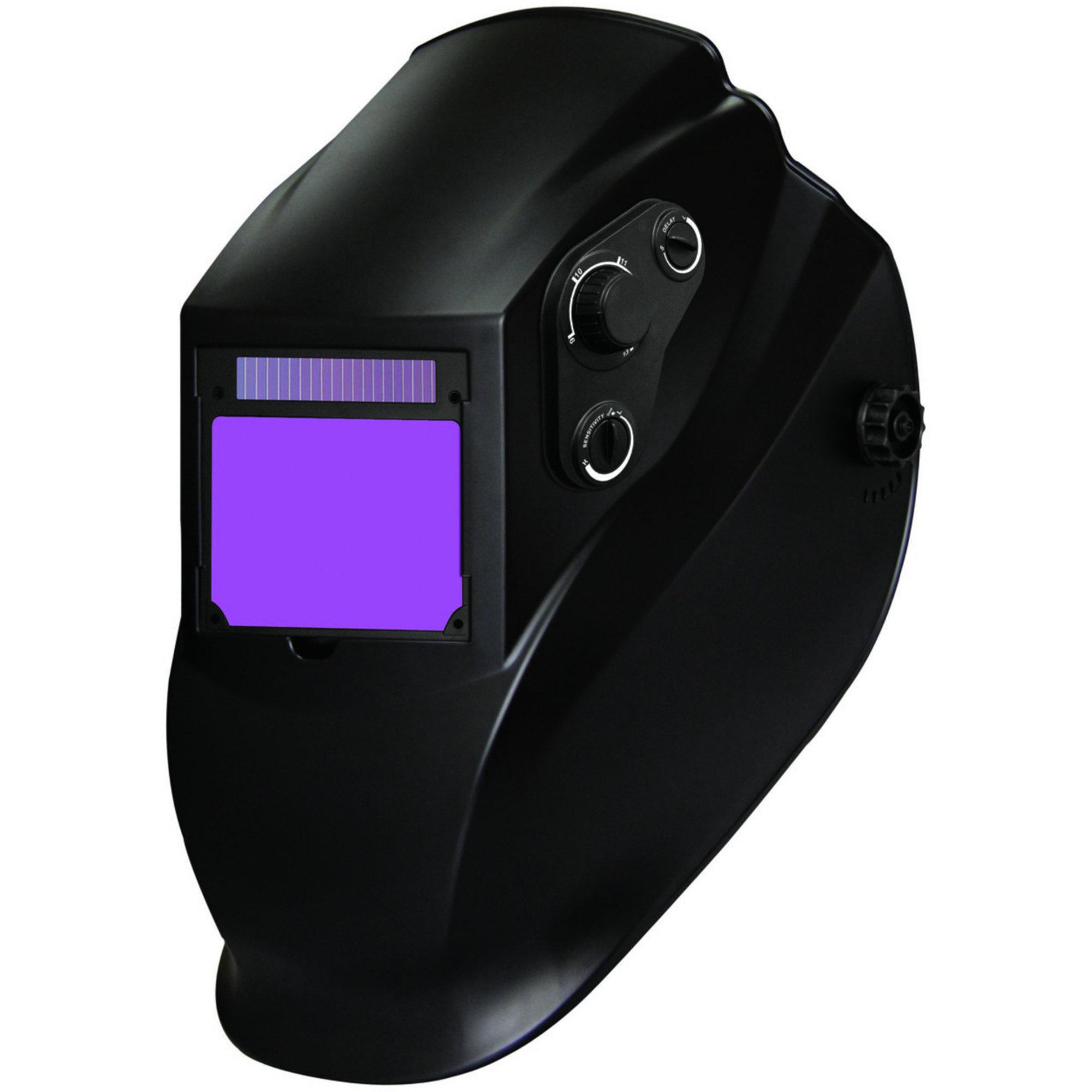 Radnor Lite Black Welding Helmet With 90mm X 110mm Variable Shades 9 - 13 Auto Darkening Lens