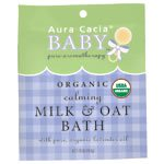 Organic Calming Milk Bath Cert. Org. Aura Cacia 1.75 oz Powder
