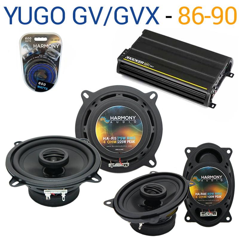 Yugo GV/GVX 1986-1990 OEM Speaker Replacement Harmony R5 R46 & CX300.4 Amp - Factory Certified Refurbished