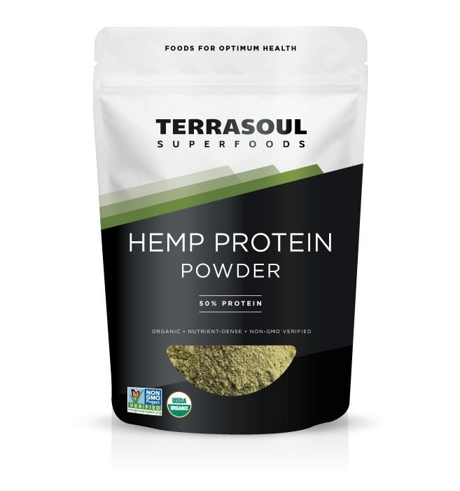 Terrasoul Superfoods Organic Hemp Protein Powder, 1.0 Lb