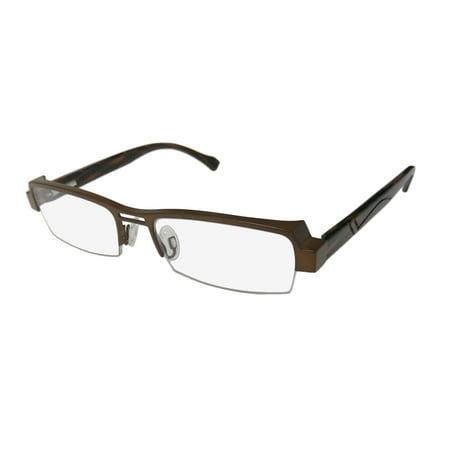 a5ee25ef15 New Harry Lary s Trophy Mens Womens Designer Half-Rim Brown   Multicolor  Frame Demo Lenses 51-17-135 Flexible Hinges Eyeglasses Glasses - Walmart.com