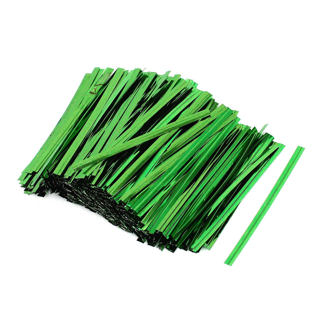 2400 Pcs Green 8cm Length Candy Bread Bags Packaging Twist Cable Tie