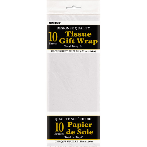 Tissue Paper Sheets, 26 x 20 in, White, 10ct