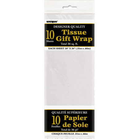 (5 pack) Tissue Paper Sheets, 26 x 20 in, White, 10ct