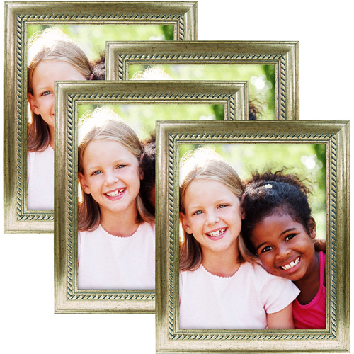 8x10 Silver Rope Profile Frame, Champagne - 4pk