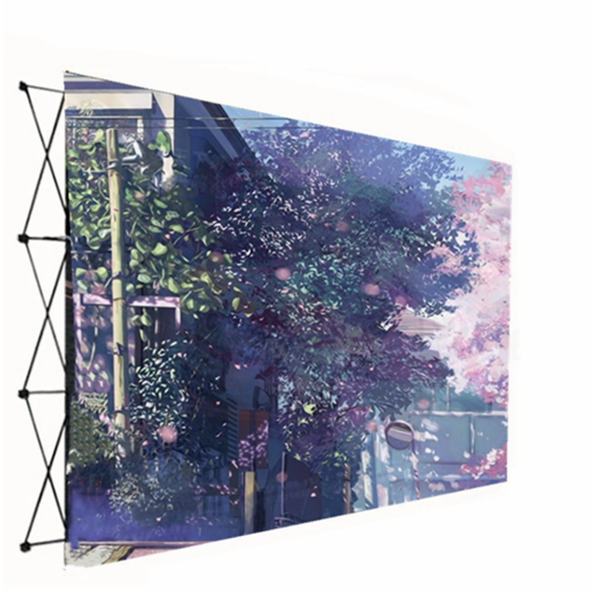 Portable Popup Backdrop Stand Trade Show Display Booth Frame Stand Banner Stand Wedding Decoration Wall Product Advertising Wall Signaturewall For Wedding Mall Advertising Walmart Com Walmart Com