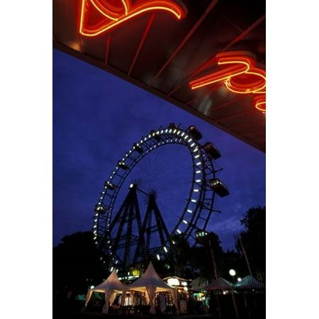 Vienna Giant Ferris Wheel Stretched Canvas - Walter Bibikow  DanitaDelimont (24 x 36)](Ferris Wheel Centerpiece)