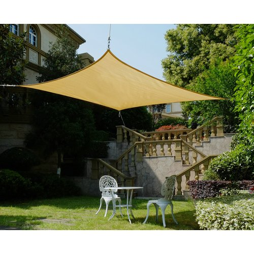 Cool Area Square 11 Feet 5 Inches Sun Shade Sail with Stainless Steel Hardware Kit UV Block Fabric Patio Shade Sail in Color Sand - Walmart.com  sc 1 st  Walmart & Cool Area Square 11 Feet 5 Inches Sun Shade Sail with Stainless ...