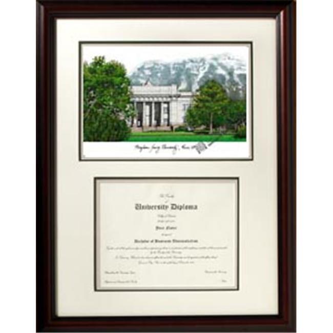 Campus Images UT994V 18'' x 24'' Brigham Young University Scholar Frame