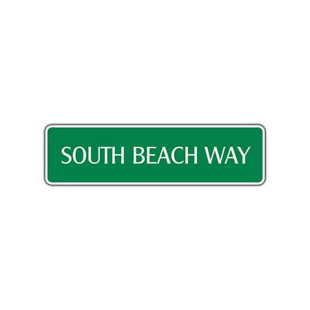 South Beach Avenue Florida Street Sign Sushi Bar Cafe Restaurant Shop Wall Décor