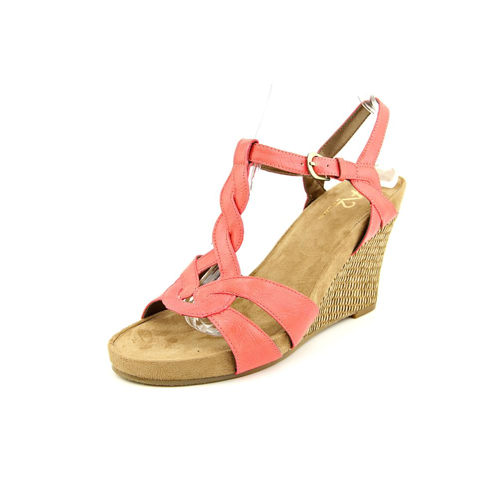 A2 By Aerosoles Stone Plush Open Toe Synthetic Wedge Sandal by A2 By Aerosoles