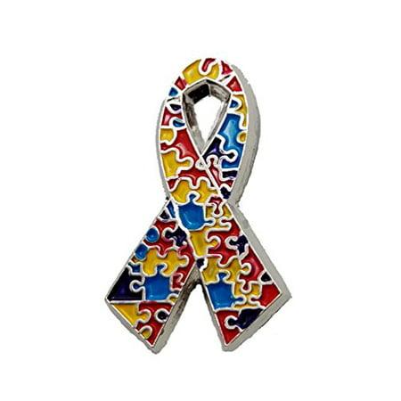 Autism Pins (Autism Awareness New Etched Design Puzzle Pieces Lapel Hat Pins PPM7307 (1)