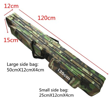 """47.2"""" Fishing Rob Bag Camouflage Fishing Tackle Bag 3-Layer Wear-resistant Shoulder Bag - image 2 de 7"""