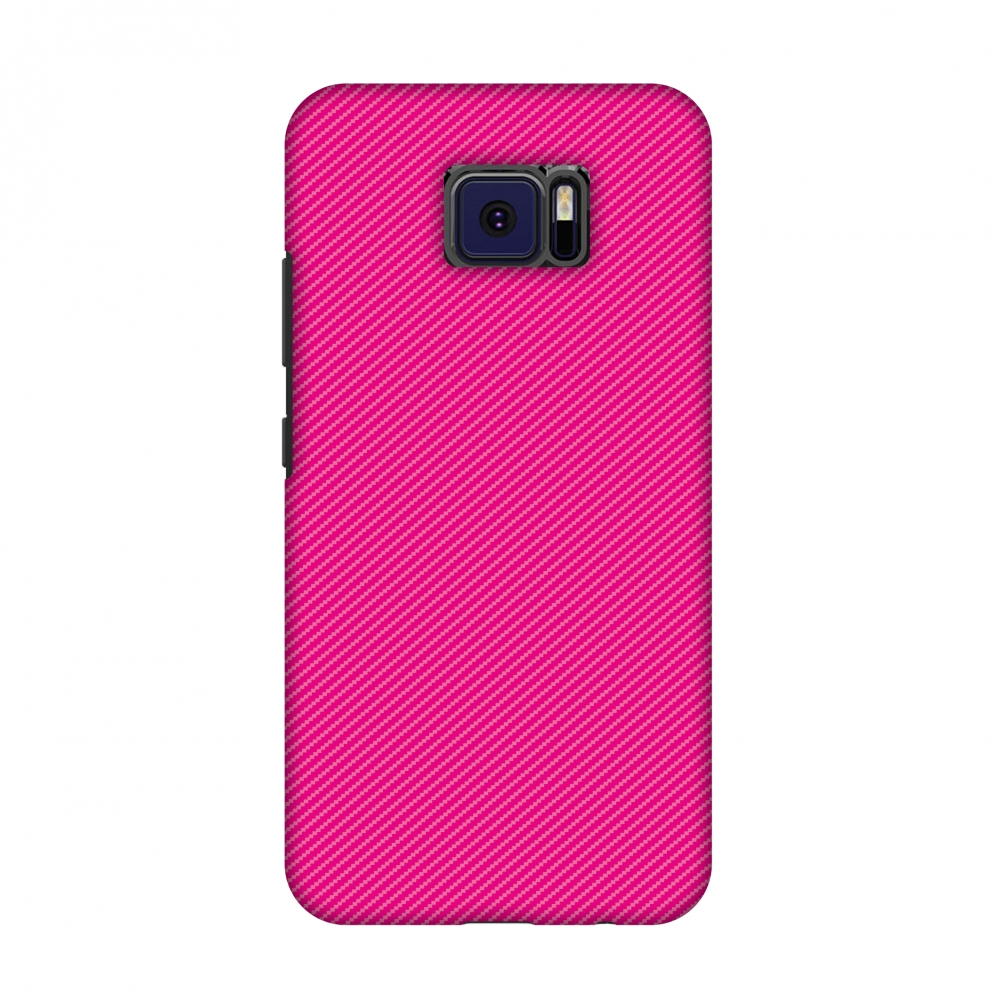 Asus ZenFone V V520KL Case - Carbon Fibre Redux Hot Pink 13, Hard Plastic Back Cover, Slim Profile Cute Printed Designer Snap on Case with Screen Cleaning Kit