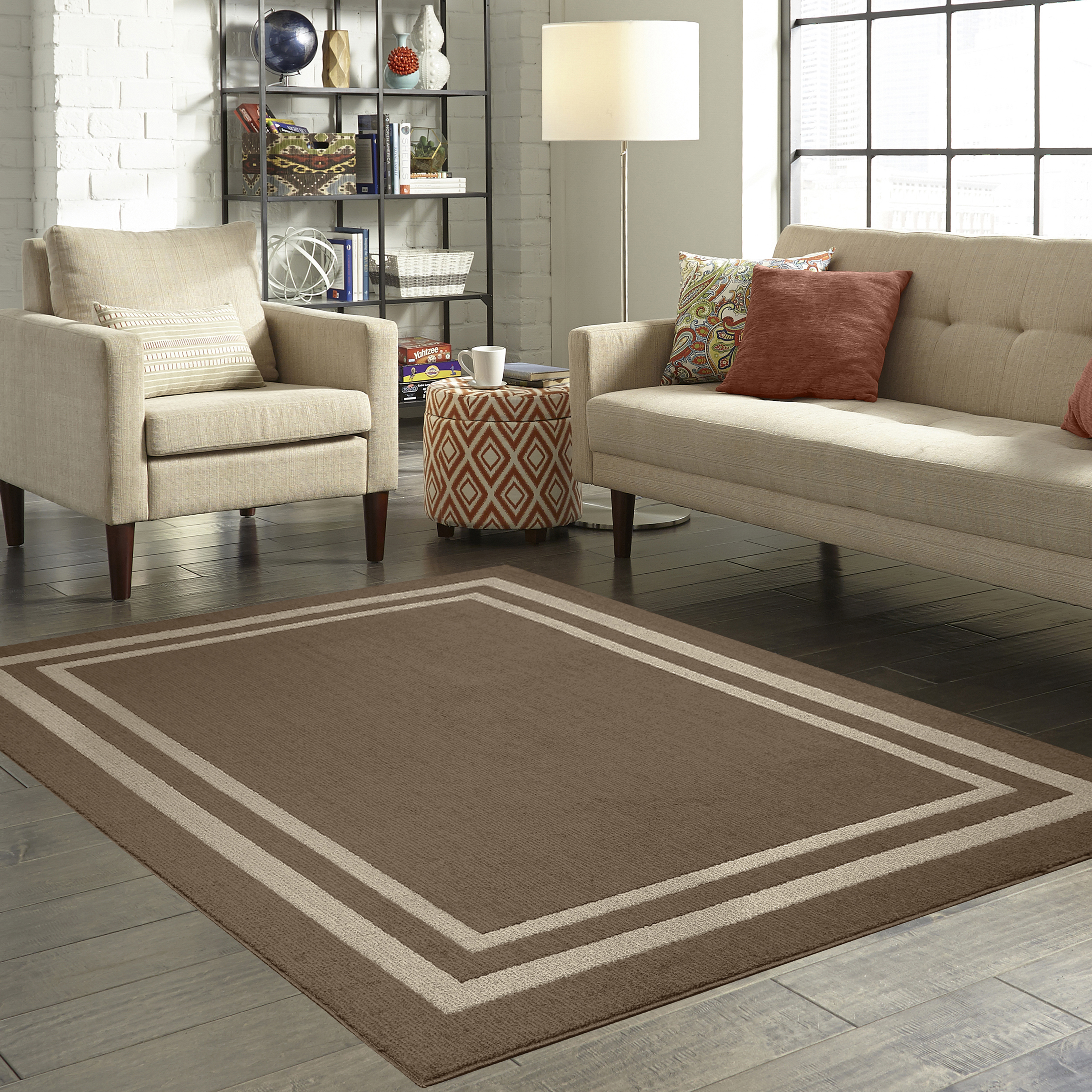 Mainstays Frame Border Area Rugs or Runner by Maples Industries, Inc.