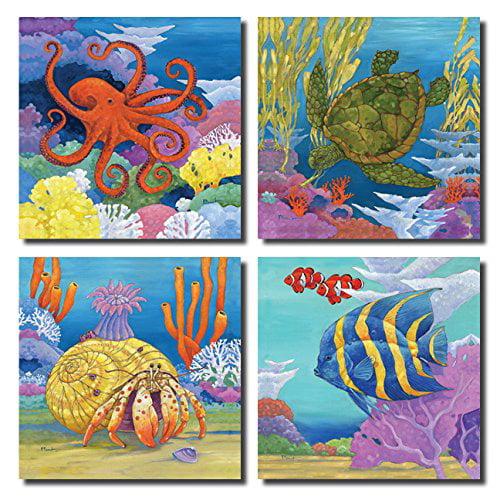 Coastal Tire And Auto >> Fun Colorful Under the Sea Coastal Crab, Turtle, Clown ...