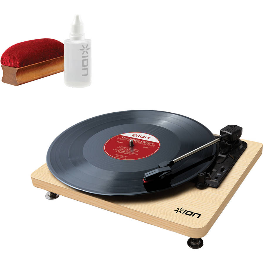 ION IT68 Compact LP 3-Speed USB Conversion Turntable and ICT07 Restoration Kit