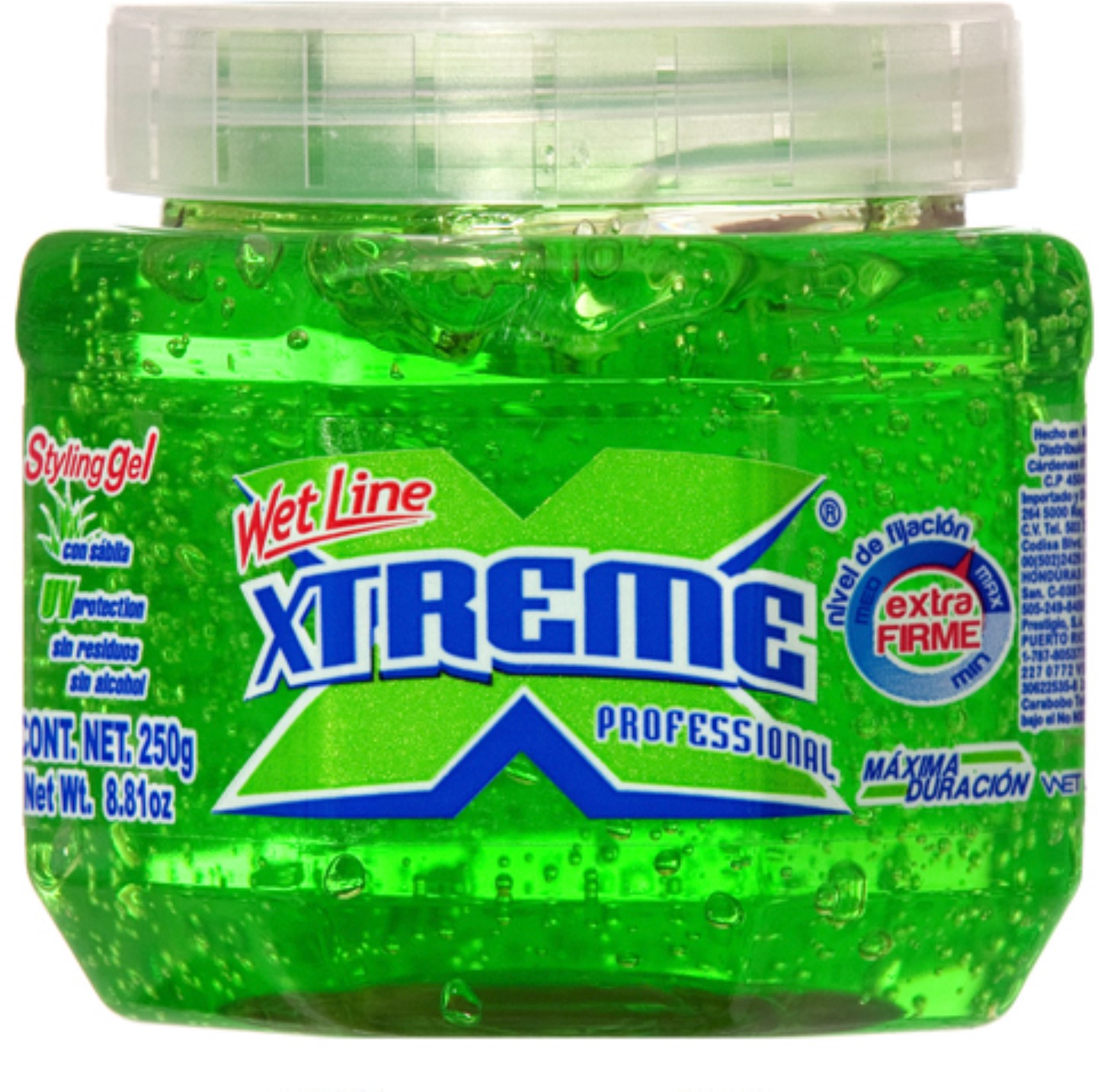 Xtreme Professional Wet Line Styling Gel Extra Hold Green. 8.8 oz (Pack of 4)