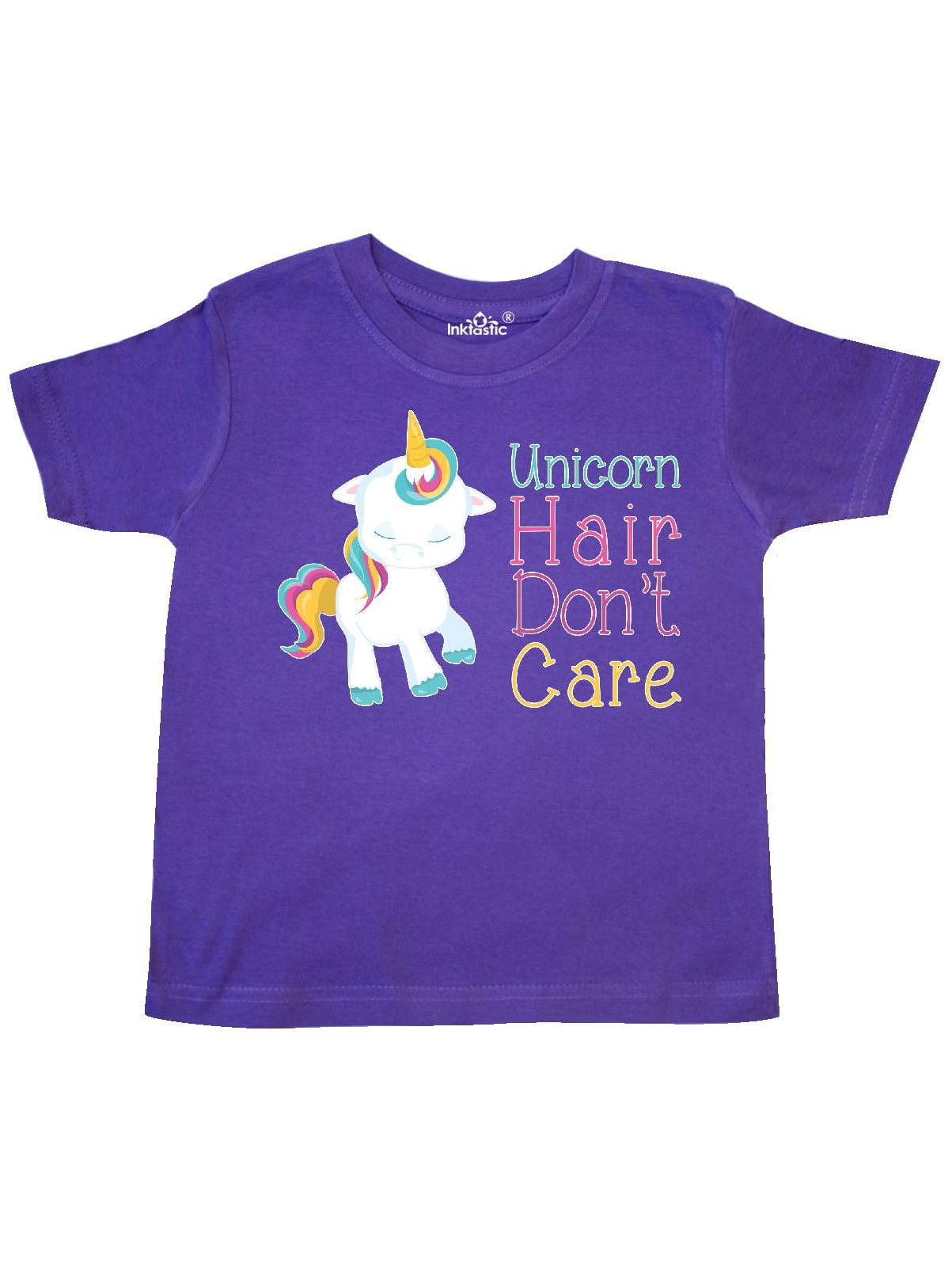 Unicorn Hair, Don't Care Toddler T-Shirt