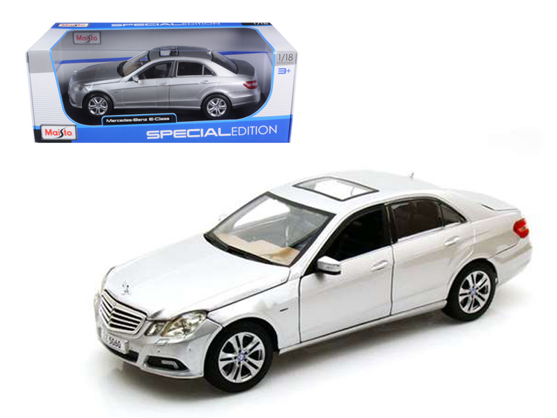 2009 2010 Mercedes E Class E350 E 350 Silver 1 18 Diecast Model Car by Maisto by Diecast Dropshipper