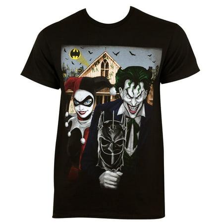 Harley Quinn The Joker American Gothic Tee Shirt - Joker Tie