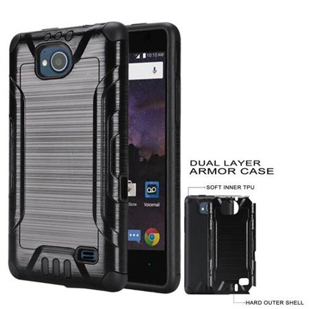 best website 8fbb5 58666 Phone Case For ZTE Majesty Pro, ZTE Majesty Pro Plus, Boost ZTE Tempo  N9131, Cricket ZTE Fanfare-2 (DZTN5003) Brush Textured Dual-Layered Cover  ...