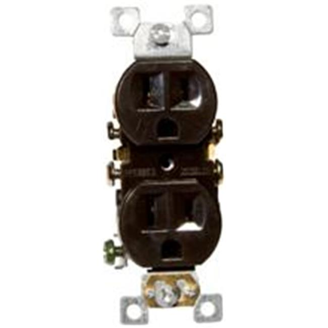 Morris Products 82122 Standard Duplex Receptacle Brown 15A-125V - image 1 of 1