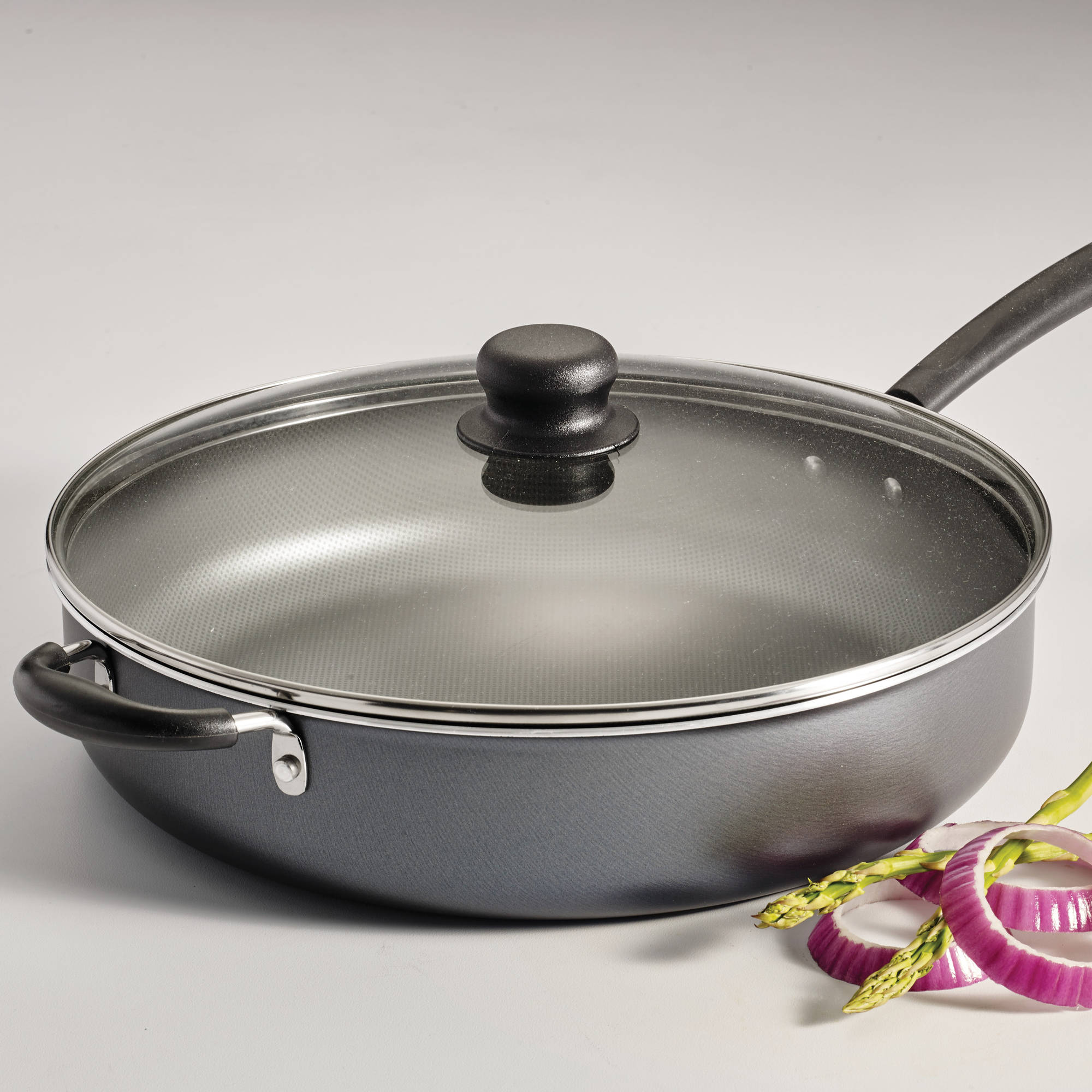 Tramontina PrimaWare 5-Quart Nonstick Covered Jumbo Cooker, Steel Gray