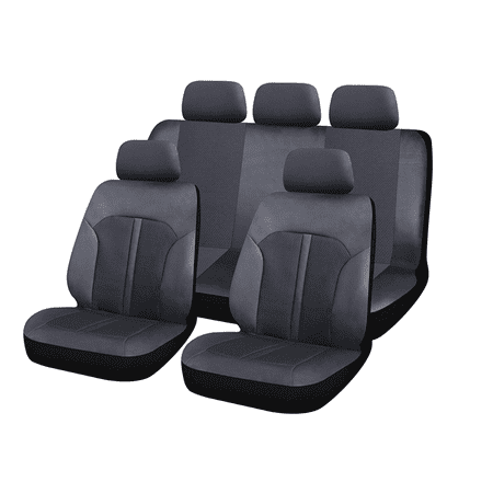 Breathable Luxury Fabric Leatherette Full Set Car Seat Covers For Car, Truck, SUV, Or