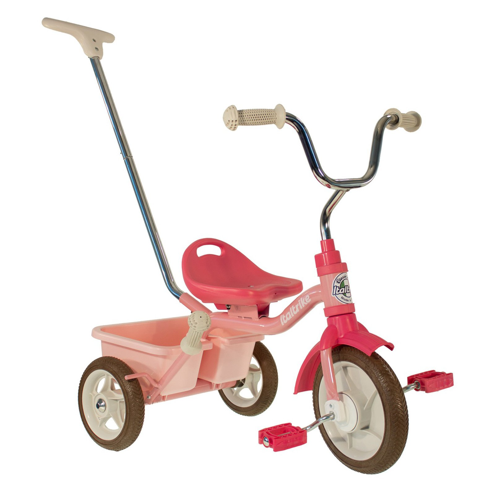 Italtrike 10 in. Passenger Classic Rose Garden Tricycle