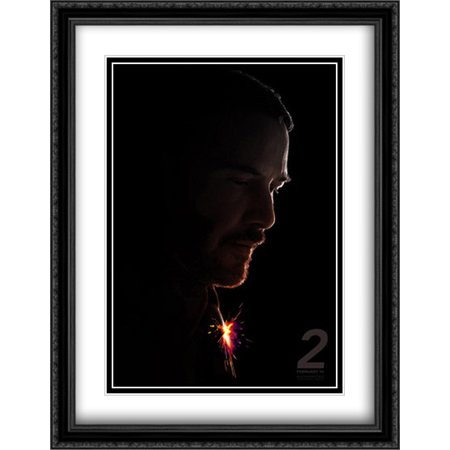 John Wick  Chapter 2 28X36 Double Matted Large Large Black Ornate Framed Movie Poster Art Print